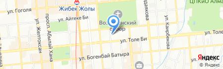 Институт искусств культуры и спорта на карте Алматы