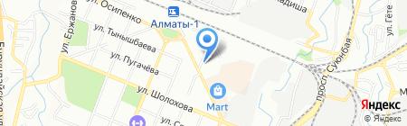 Лицензионно-разрешительная система Турксибского УВД на карте Алматы
