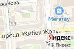 Схема проезда до компании Премиум Р в Алматы