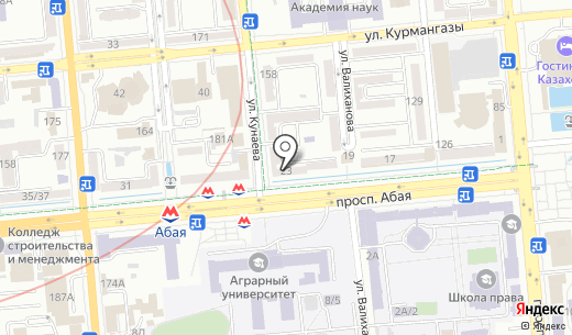 Zeider. Схема проезда в Алматы