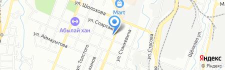 Ленуца на карте Алматы