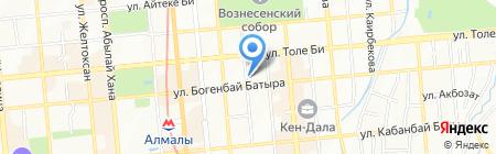 РЭЦК на карте Алматы