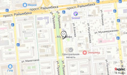 Киоск по продаже религиозных товаров. Схема проезда в Алматы