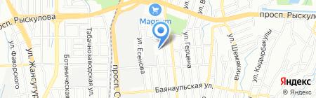 Общеобразовательная школа №102 на карте Алматы