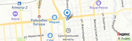 Жалын на карте Алматы