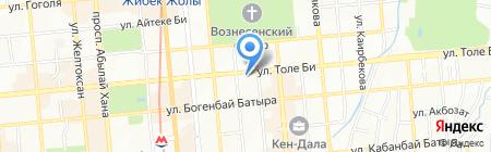 Нотариус Амандыкова Ж.Е. на карте Алматы
