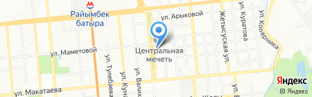 Нотариус Кельдыбаева Г.С. на карте Алматы