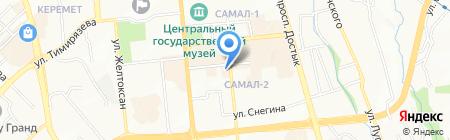 Атина на карте Алматы