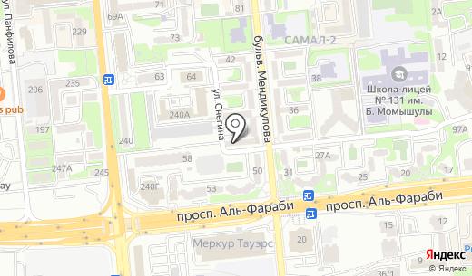 AQUAPORE. Схема проезда в Алматы