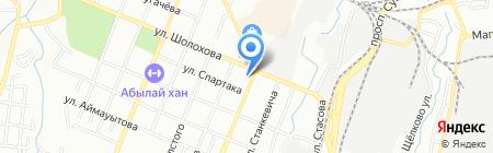 Магазин искусственной кожи на карте Алматы