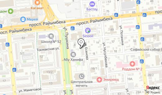 Транспроект-К. Схема проезда в Алматы