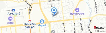 Буркит на карте Алматы