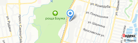 АЛМАТЫ АТО на карте Алматы