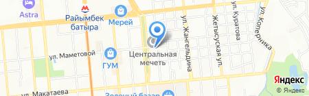 Ордабасы на карте Алматы