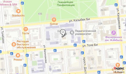 Генеральное консульство Турецкой Республики. Схема проезда в Алматы