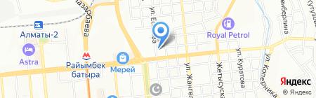 Сауна на Иссыкской на карте Алматы