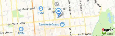 Туркестан на карте Алматы
