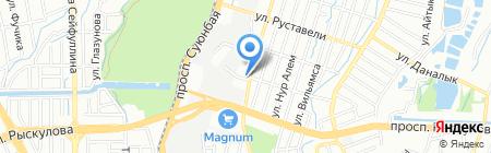 Жанерке на карте Алматы