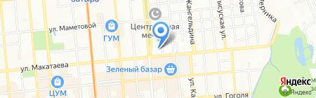 Чик на карте Алматы