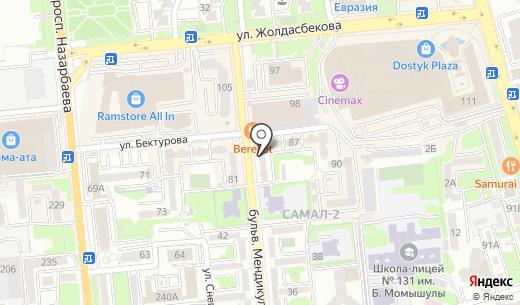 Огнеупор. Схема проезда в Алматы
