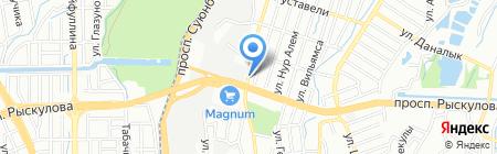 Строймаг на карте Алматы