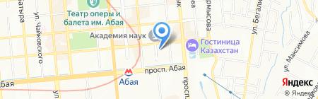 Автор на карте Алматы