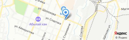 Нотариус Мазакова С.Ш. на карте Алматы