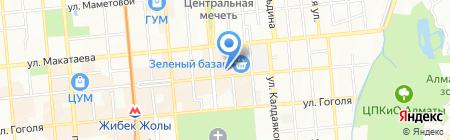 Дземан на карте Алматы