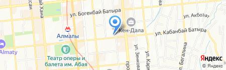 Вопросы географии и геоэкологии на карте Алматы