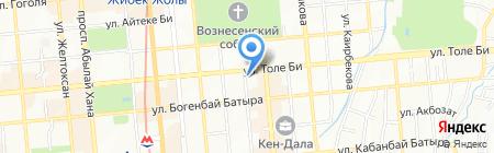 Нотариус Котов Д.А. на карте Алматы