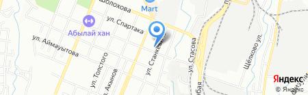Багет на карте Алматы