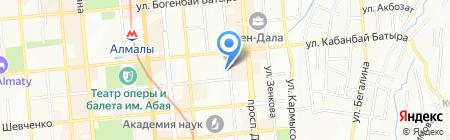 КНУ на карте Алматы