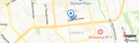 Менд-Аль на карте Алматы