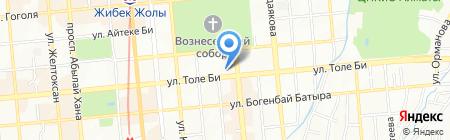 Дошкольный проект на карте Алматы