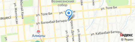 Петровские Окна на карте Алматы