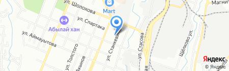 Албан на карте Алматы