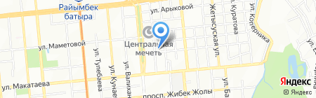 Риза на карте Алматы