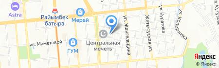 Акниет на карте Алматы