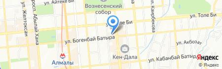 Тополёк на карте Алматы