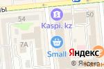 Схема проезда до компании Высшая школа бизнеса в Алматы