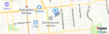 Эйкос на карте Алматы