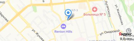 Катюша на карте Алматы