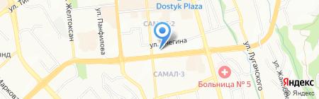 Кокжиек на карте Алматы