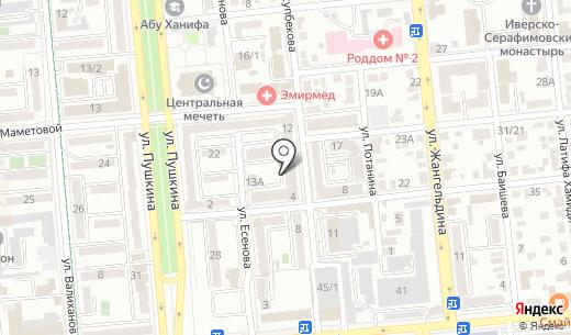 Dream Way. Схема проезда в Алматы