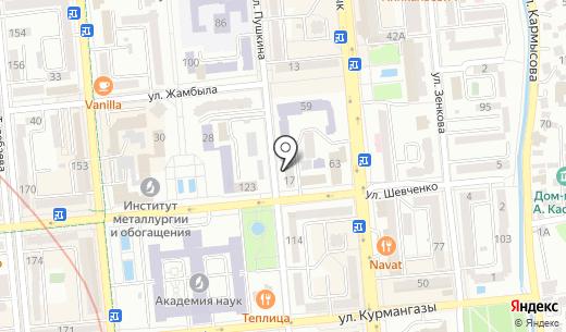 La Cave Nova Vina. Схема проезда в Алматы