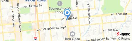 Барыс-хан на карте Алматы