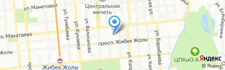 Зелёный базар на карте Алматы