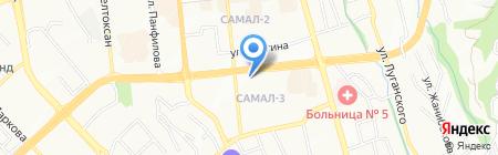 Нотариус Жумасаева Р.С. на карте Алматы