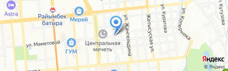 Толганай на карте Алматы