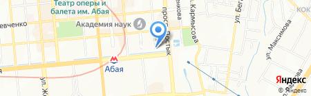Караван на карте Алматы